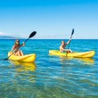 Man and Woman Kayaking in the Ocean — Stock Photo #59845089