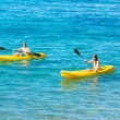 Man and Woman Kayaking in the Ocean — Stock Photo #59845313