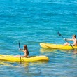 Man and Woman Kayaking in the Ocean — Stock Photo #59845325