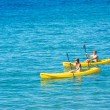 Man and Woman Kayaking in the Ocean — Stock Photo #59845377
