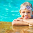 Young Boy Having fun at the Pool — Stock Photo #59845413