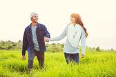 Aşık genç bir çift — Stok fotoğraf