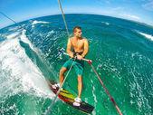 Extreme Sport, Kiteboarding — Stock Photo