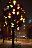 The monument to the traffic light.City Penza. — Stock Photo