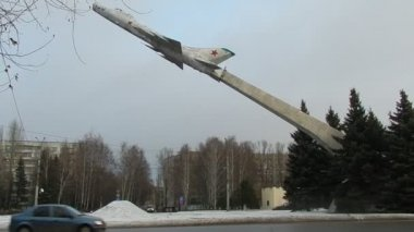 Russian Warplanes.Monyment SU-9.City Penza. — Stock Video