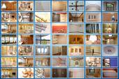 Home interior.Collage. — Stock Photo