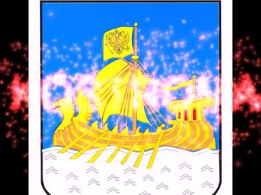 Arms of city.Kostroma. — ストックビデオ