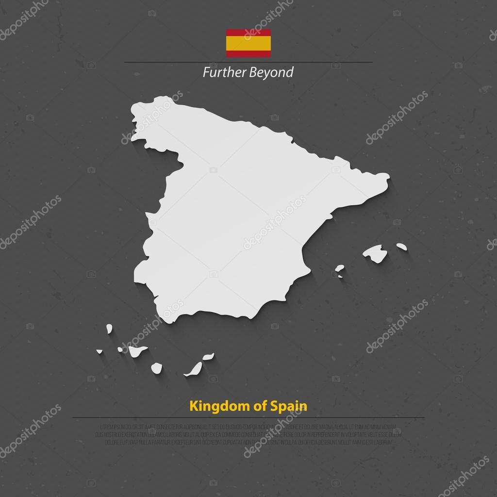 在纸张的纹理矢量西班牙政治地图