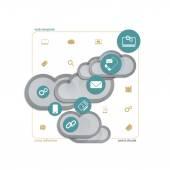 Assist cloud — Stock Vector