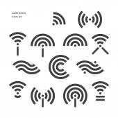 Radio waves — Stock Vector