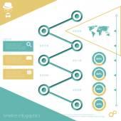 Timeline — Stock Vector