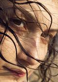 Natural skin and hair — Stock Photo