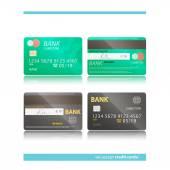Cards accept — Stock Vector