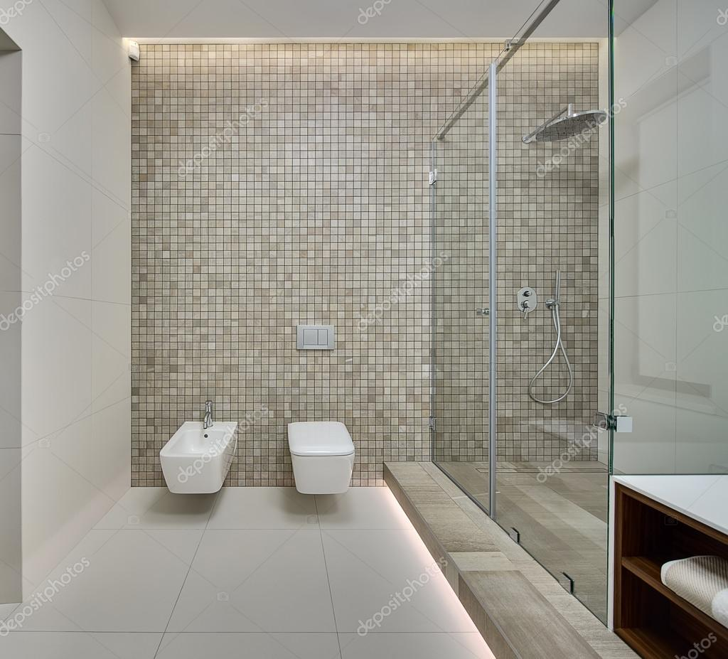 Moderna sala doccia — foto stock © bezikus #104359946
