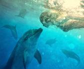 Underwater dialog — Stockfoto