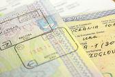 Visa stamp — Stock Photo