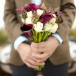 Groom with a bouquet — Stock Photo #60401971
