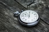 Steel stopwatch — Stock Photo