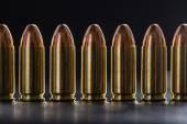 Number pistol cartridge 9 mm caliber — Stock Photo