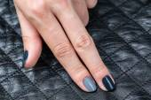 Womens hands with a stylish manicure. — Stock Photo