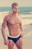 Uomo sexy fit — Foto Stock