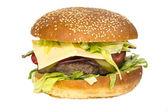 Hamburger auf einem weißen hintergrund — Stockfoto