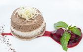 Creamy chocolate desserts and ice cream — Stock Photo