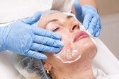Cosmetic treatment with injection — Zdjęcie stockowe