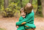 Two brothers hugging — Stock Photo