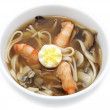 Japanese soup with prawns — Stock Photo #57746921