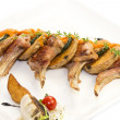 Roasted veal ribs with vegetables — Stock Photo #58015171