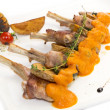 Roasted veal ribs with vegetables — Stock Photo #58015173
