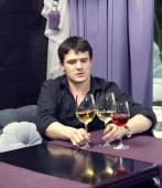 Young man tasting wine — Foto de Stock
