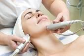 Woman during facial procedure — Stock Photo
