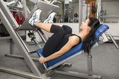Young woman working out — Stock Photo