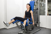 Young woman working out — Foto de Stock