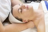 Massage and facial peels — Stock Photo