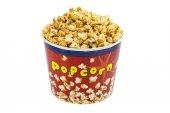 Popcorn in cardboard bucket — Stock Photo