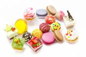 Desserts, candies and cookies — Stock Photo