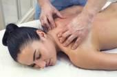 Beautiful woman getting massage — Stock Photo