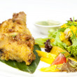 Chicken in curry with salad — Stock Photo #62919599