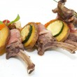 Roasted veal ribs with vegetables — Stock Photo #62919685