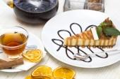 Pezzo di torta di formaggio — Foto Stock