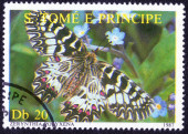 Stamp with butterfly, 1987 — Stock Photo