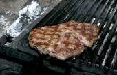 Steak cooked on grill — Stock Photo