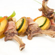 Roasted veal ribs with vegetables — Stock Photo #68704959