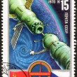 International Flights in the Space Stamp — Stock Photo #68783927