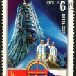 International Flights in the Space Stamp — Stock Photo #68783929