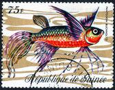 Printed fish stamp — Stockfoto