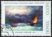 Paintings by famous artists stamp — Stock Photo